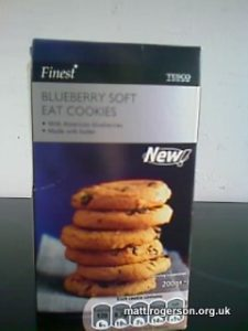 """Blueberry Soft EAT COOKIES"""
