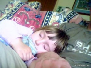 Amy Sleeping @ Granny and Grandad Beansticks