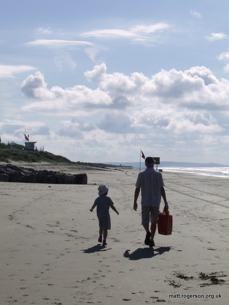 Off to build sand castles August 2011